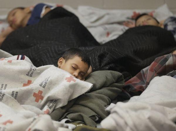 Children detainees in Brownsville, Texas
